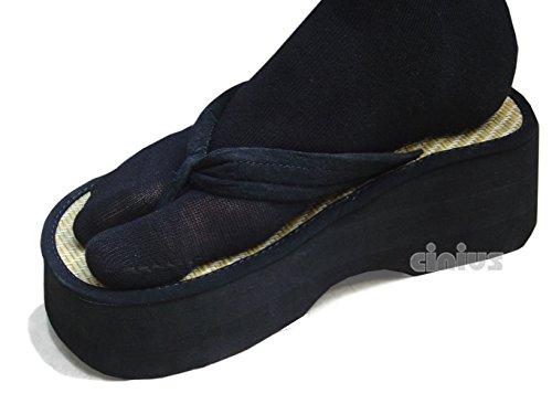 Calcetines con separación del pulgar color negro