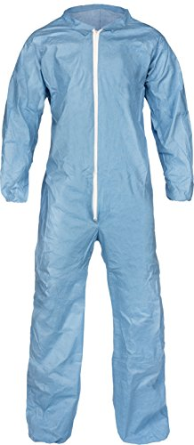 Lakeland Pyrolon Plus 2 Flame-Resistant Coverall, Disposable, Elastic Cuff, Large, Blue (Case of 25)