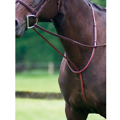 Exselle Elite Fancy Square Raised Standing Martingale, Pony, Dark Havana ()