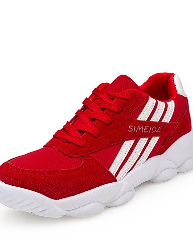 Uk3 Rojo Zq Hug Eu36 5 Mujer Cn40 Uk6 Punta Semicuero 5 De Bajo La Cn35 Tacón us5 us8 A Moda Sneakers 5 Negro Zapatos Red Casual Red 5 Redonda Eu39 pZxrp