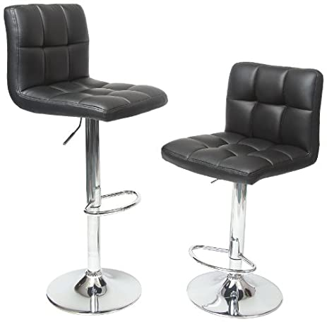 Roundhill Furniture Swivel Black Bonded Leather Adjustable Hydraulic Bar Stool Set of 2  sc 1 st  Amazon.com & Amazon.com: Roundhill Furniture Swivel Black Bonded Leather ... islam-shia.org