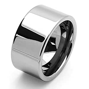 Pequeños Tesoros - 12MM Carburo De Tungsteno - Anillo De Matrimonio Men Libre de cobalto
