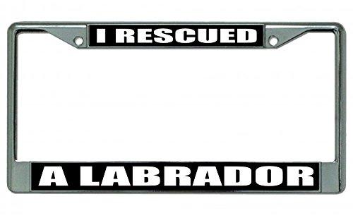 (I Rescued A Labrador Photo License Plate Frame )