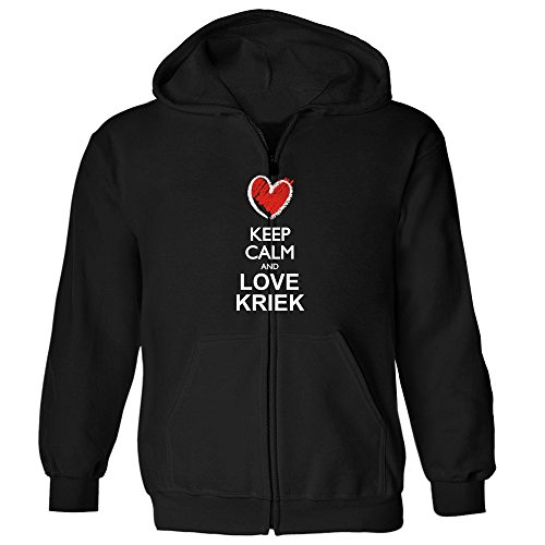 idakoos-keep-calm-and-love-kriek-chalk-style-drinks-zip-hoodie