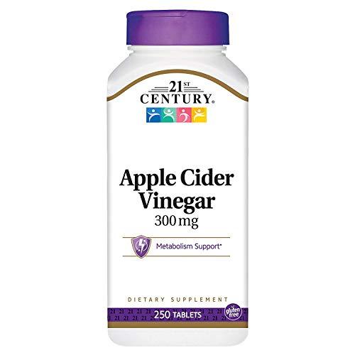21st Century Apple Cider Vinegar 300 mg - 250 Tablets, Pack of 2 (21st Century Apple Cider Vinegar 300 Mg)