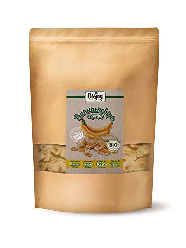 Biojoy BIO-Bananenchips, ungesüßt und ungeschwefelt (1 kg)