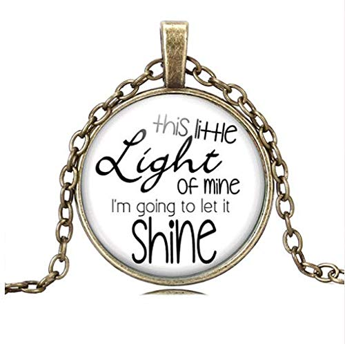 The Miner's Lamp Necklace,Christian Song Holiday Bible School Church Friends Gift,Religion -