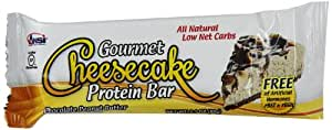 Ansi Gourmet Cheesecake Protein Bar, Chocolate Peanut Butter, 60 Gram, 12 Count