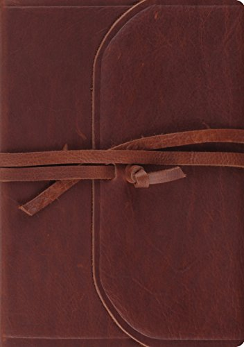 - ESV Journaling Bible, Interleaved Edition (Brown, Flap with Strap)