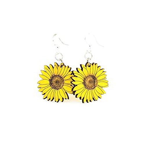 Green Tree Jewelry Sunflower Earrings with Gift Box