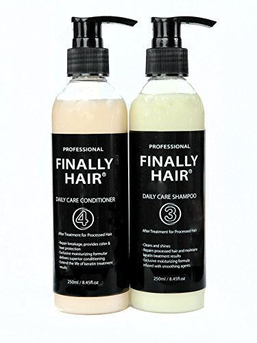 Your Hair Perm (Finally Hair Brazilian Sulfate Free Shampoo & Conditioner For Use On Treated Hair (Perfect after Keratin Straightenting Smoothing Treatments and Perms))