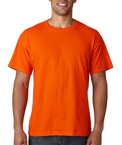 Fruit of the Loom mens 5 oz. 100% Heavy Cotton HD T-Shirt(3931)-BURNT -