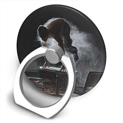 Round Finger Ring Cell Phone Holder Parkour Figure 360 Degree Rotating Stand Grip Mounts