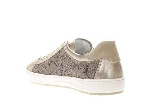 Giardini Pelle Sabbia in Tessuto Nero Sneaker Donna e Pq7Uwvx