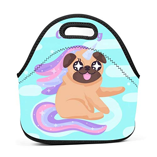 Mignon Pug Style Licorne Lunch Bag Tote Bag Lunch Organizer Lunch Holder Lunch ()