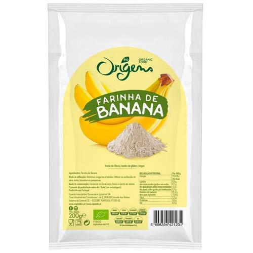 ORIGENS - Gluten Free Organic BANANA Flour - 4 x 200gr / 7.05oz by ORIGENS - Gluten Free Organic BANANA Flour - 4 x 200gr / 7.05oz