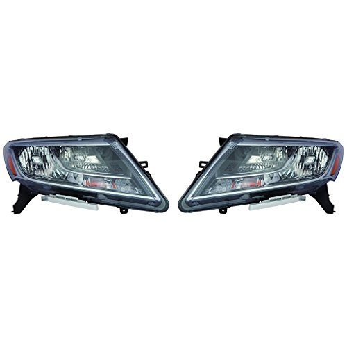Fits Nissan Pathfinder 2013-15/Hybrid 2014 Headlight Assembly Pair Driver and Passenger Side (NSF Certified) NI2502221, NI2503221