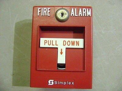 Amazon.com: Simplex Rojo de alarma contra incendios ...