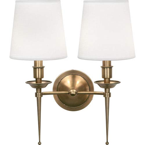 - Mill & Mason Oxford Brass Two-Light Wall Sconce