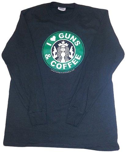 I Love Guns & Coffee Long Sleeve T-Shirt
