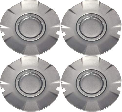 BB Auto Set of 4 New 20 inch Silver Wheel Hub Center Caps Replacement for 2004-2007 Chevrolet Silverado SS Chevy Super Sport (20 Inch Silver Wheels)