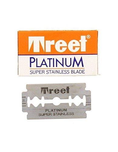 Platinum Super Stainless Double-Edge Blades - 10 razor blades by Treet
