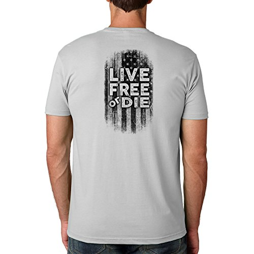 Dead or Alive Clothing Live Free or Die Cotton Crew Short Sleeve Shirt X-Large Light Grey ()
