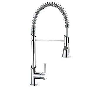 milano pull down sprayer kitchen sink mixer pull out spray tap swivel spout solid brass with modern chrome finish lb e8023 cp - Kitchen Sink Mixers