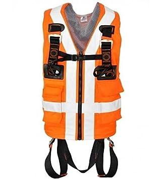 Cuerpo Arnés - 2 puntos de fijación con una naranja chaleco de ...
