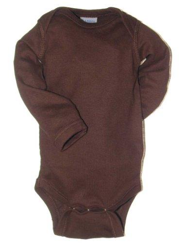 Rabbit Skins Infant Baby Rib Lap Shoulder Long Sleeve Bodysuit (Brown) (12)