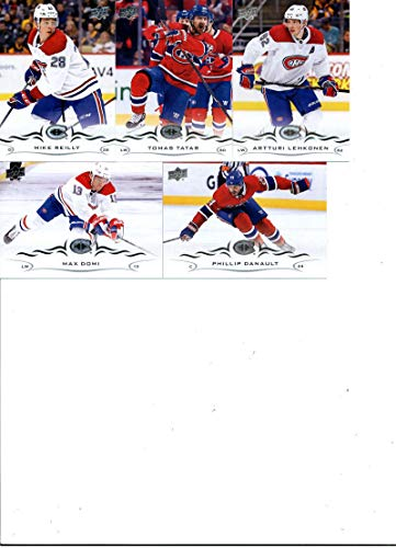 2018-19 Upper Deck Series 2 Hockey Montreal Canadiens Team Set of 5 Cards: Phillip Danault(#347), Max Domi(#348), Artturi Lehkonen(#349), Tomas Tatar(#350), Mike Reilly(#351) (Team Canadiens Montreal Set)