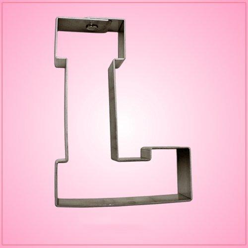 Varsity Letter L Cookie Cutter 4.25 Inch (Metal) aluminum ()