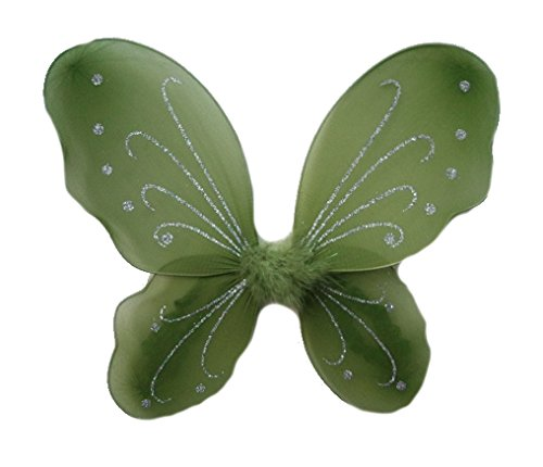 BotiqueCutie TM Dress Up Olive Green Butterfly Sparkle Wings