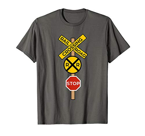 Railroad Crossing Shirt | Cute Road Sign Crossing Tee Gift -