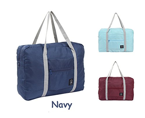 Foldable Travel Duffel Bag Trustbag Luggage Sports Gym Water Resistant Nylon,Navy