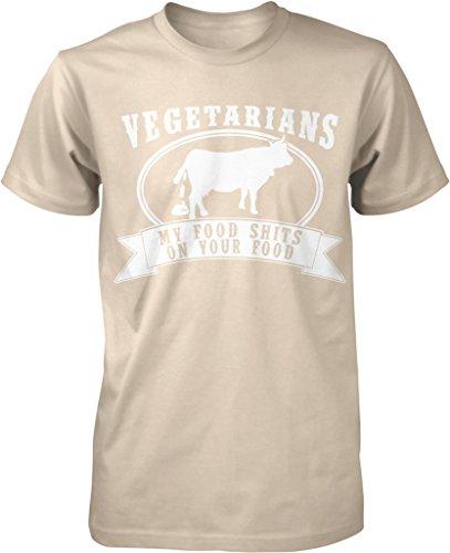 Vegetarian, My Food Shits On Your Food, Tree Hugger, Paleo Diet Men's T-shirt, NOFO Clothing Co. XXXL ()