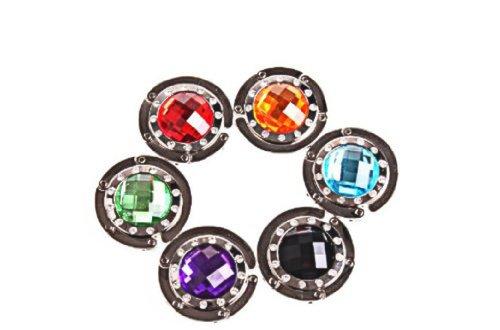 6 PACK Diamond Purse Hooks, Magnetic Clasp, Handbag