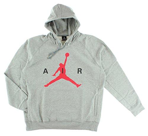 Jordan Mens Air Air Pullover Hoodie Grey XXL ()