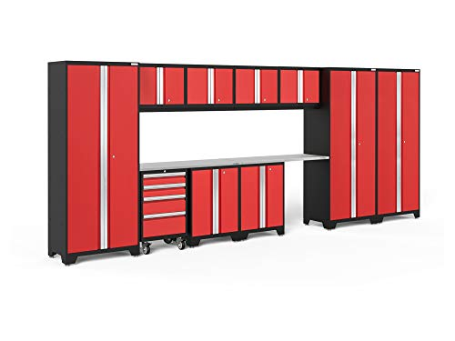 NewAge Products Bold 3.0 Red 12 Piece Set, Garage Cabinets, 50614