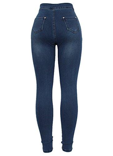 N341 Skinny Fashion Blue Jeans Barfly Femme 4EX0v0q