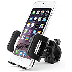 Smartphone Bicycle and Motorcycle Mount, Fits Most Phones Up to 3.5 Inches Wide including iPhone 7/7s Plus, 6/6 Plus, 5/5s/5c, Galaxy S8/S8 Plus, S7 / S7 Edge, Note 6/5, LG G5/G6 and many more – by Cellet -Black