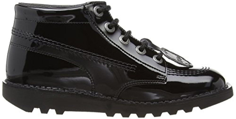 Kickers Kick Hi Core Girls' Boots - Black (Patent), 3 UK (36 EU)