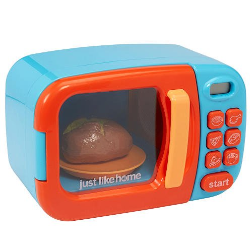 Baby Blue Microwave Oven: Just Like Home Perfectly Recreating The Real Thing
