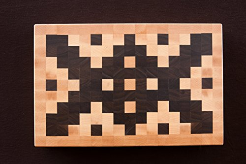 Chopping Blox Large End Grain Cutting Board in Walnut and Maple, AZXM-M