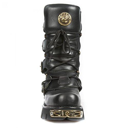 New Rock Boots M.373-c52 Gotico Hardrock Punk Unisex Stiefel Schwarz