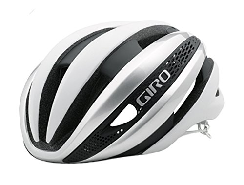 (Giro Synthe MIPS Helmet Matte White/Silver, L)