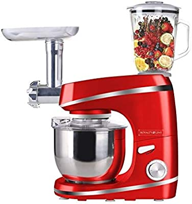 Royalty Line - Robot de cocina multifunción, batidora de cristal, amasadora, picadora de carne: Amazon.es: Hogar