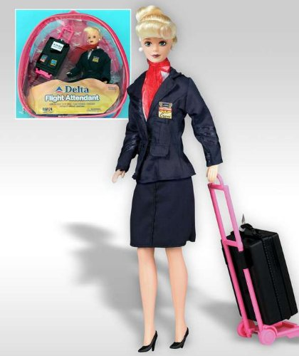 Flight Attendant Doll Delta Airlines 11