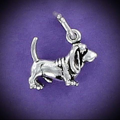 Basset Hound Dog Charm Sterling Silver for Bracelet Short Legs Long Ears Tiny Vintage Crafting Pendant Jewelry Making Supplies - DIY for Necklace Bracelet Accessories by CharmingSS