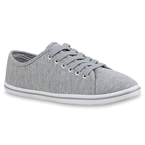 Stiefelparadies - Zapatillas Mujer Gris - gris claro (grey 801)